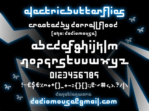dafont electric electric butterflies font dafont com