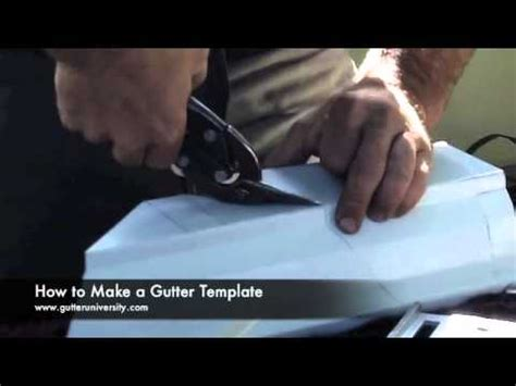 How To Make A Gutter Template Youtube Gutter Template