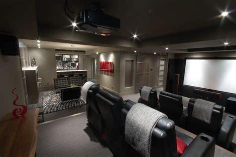 basement brewery bar home theater modern basement