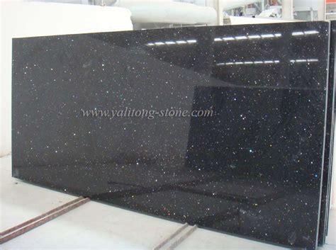 china artificial quartz countertops galaxy black china
