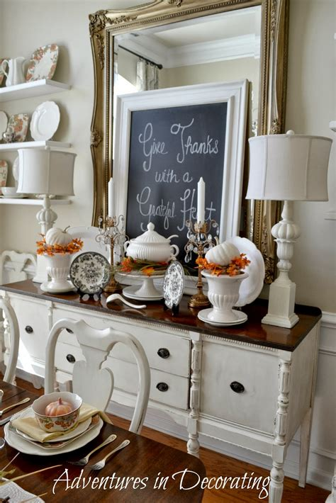 adventures  decorating fall   dining room