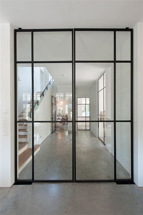 Interior Metal Door Doors Glass Doors And Black Frames On