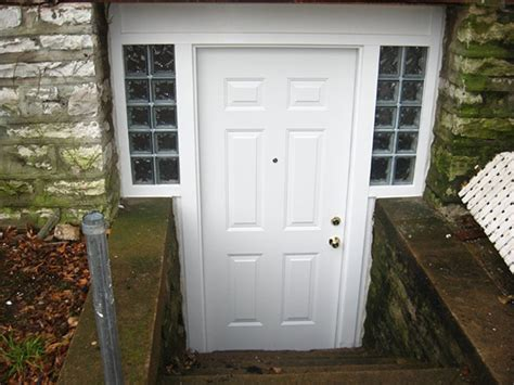 exterior basement entrance basement entry doors in st louis exterior doors