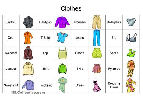 clothing vocabulary cepa paulo freire 2017 rachael clothes