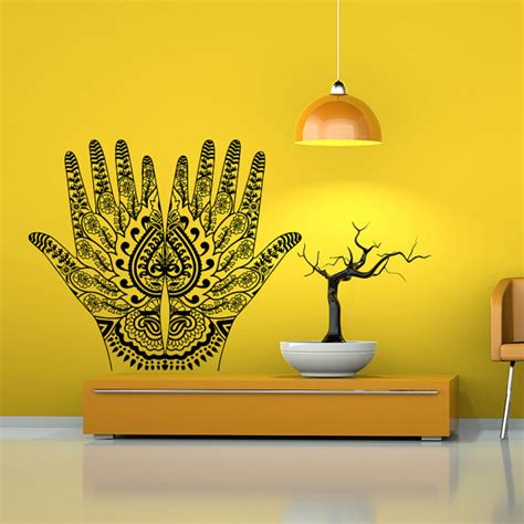 henna design wall decals wall decal vinyl sticker decals art home decor by