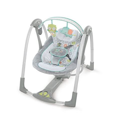portable infant swing ingenuity swing n go portable baby swings hugs hoots