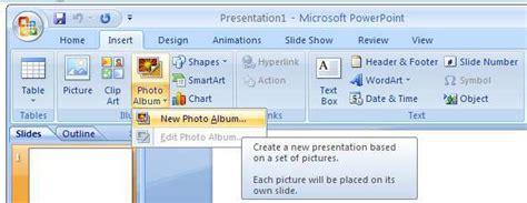 Create Slideshow Photo Album In Microsoft Powerpoint 2007 Design For Powerpoint 2007