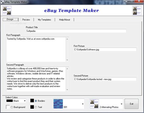 Template Maker Software Free ebay template maker