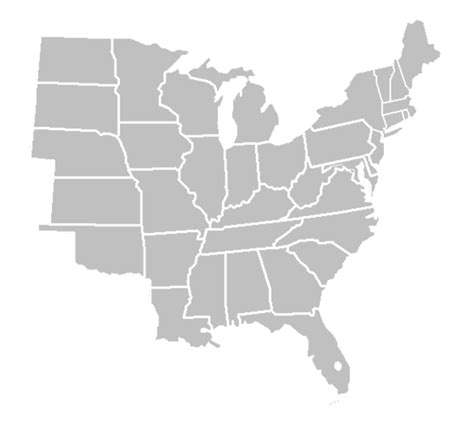 usa map states blank eastern united states blank map images