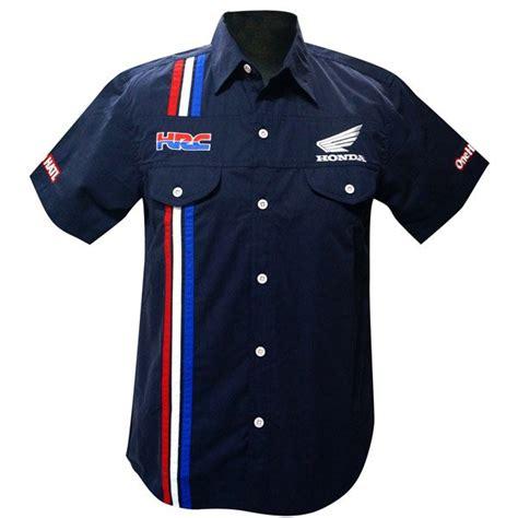 desain kemeja racing kemeja resmi honda hrc shirt navy blue honda cengkareng