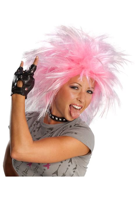 pink punk funky pink punk wig