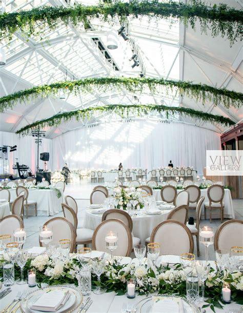 modern indoor garden wedding  montreal elegantweddingca