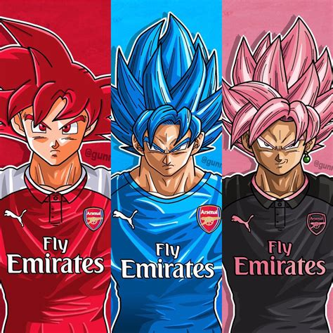 arsenal colors goku in arsenal colors rebrn