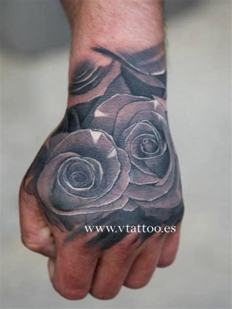 tattoo hand with flower flower hand tattoo by v tattoos