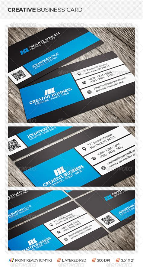 creative business card print templates creative business card graphicriver