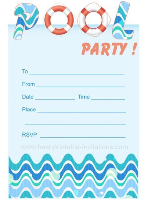 free printable party invitations templates party
