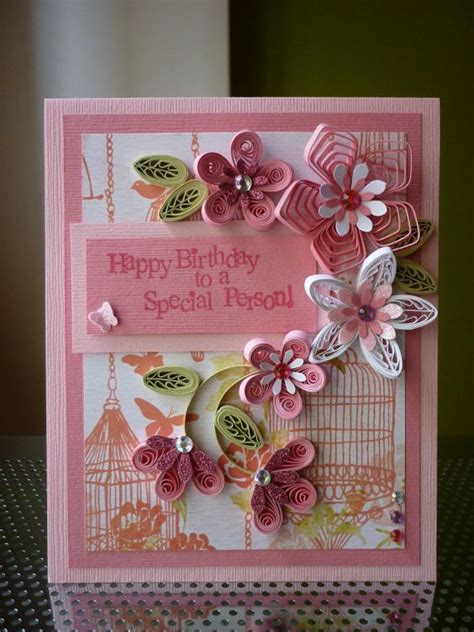 Amazing Handmade Birthday Cards - handmade quilling paper pink card quot happy birthday to a