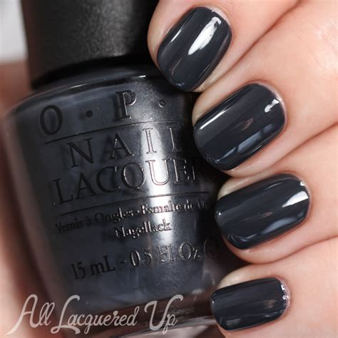 dark nail colors for over 50 opi fifty shades of grey swatches review dark side