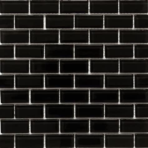 Kitchen Backsplash Tiles Peel And Stick martini mosaic essen very black glass 11 75 x 11 75 inch