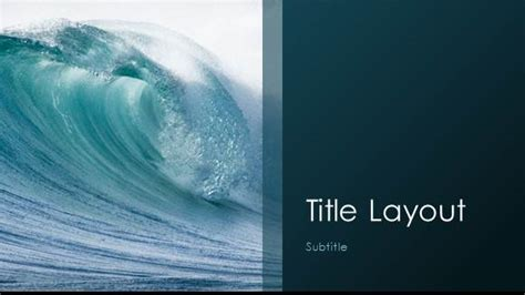 templates powerpoint sea free waves template for powerpoint online free
