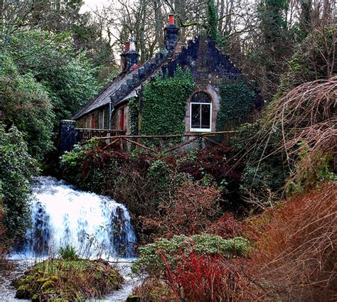 Secret Cottages Glen by Scottish Woodland Cottage And Waterfall Flickr Photo