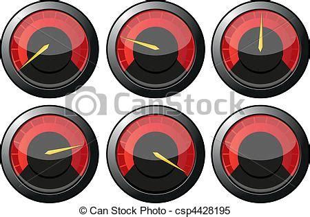 Geschwindigkeitsmesser Auto by Clipart Vektor Satz Rotes Geschwindigkeitsmesser