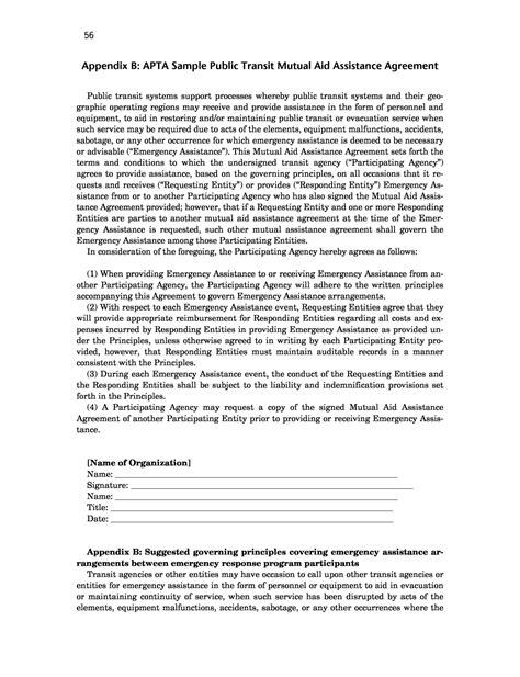aid agreement template appendix b apta sle transit aid