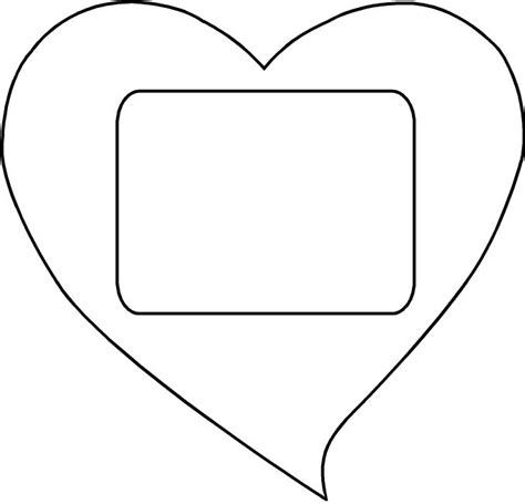 search results for large heart cut out template