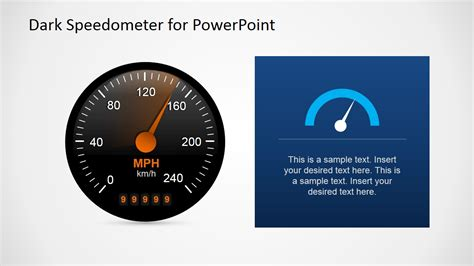 Free Dark Speedometer Shapes For Powerpoint Slidemodel Speedometer Powerpoint Template