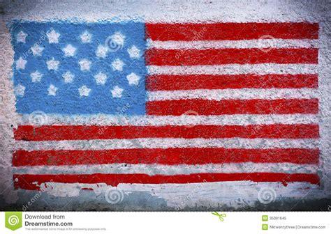 american flag mural stock image image  stamp