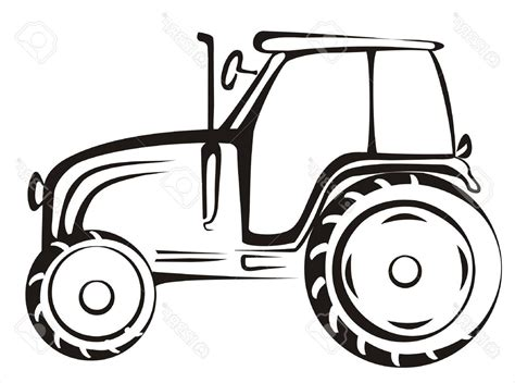 simple tractor drawing design templates