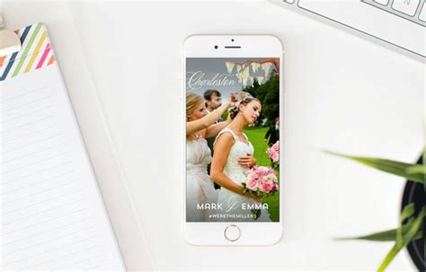 How To Create A Snapchat Geofilter For Your Wedding This Snapchat Wedding Geofilter Template