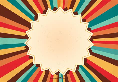 fotos retro retro sunburst background illustration free
