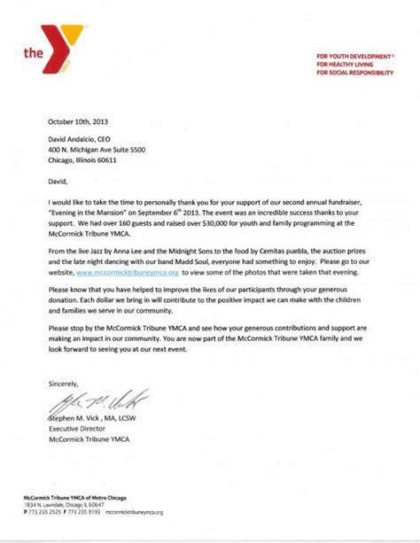 Thank You For Your Donation Letter Template Business Sle Church Fundraising Letter Template