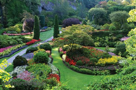 Gardens Of Two by The Butchart Gardens Columbia Canada