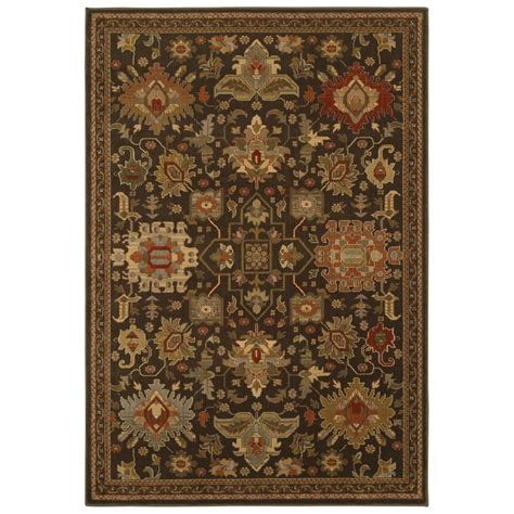rugs home decorators home decorators collection greyson chestnut 7 ft 10 in x