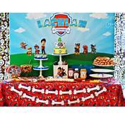 Sweet Table From A Paw Patrol Birthday Party Via Kara's Ideas