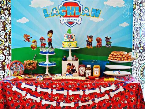 paw patrol table ideas kara s ideas paw patrol birthday kara s