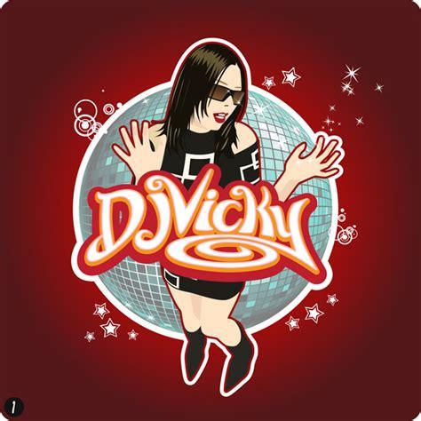 dj vicky logo design for djvicky warrington cheshire by