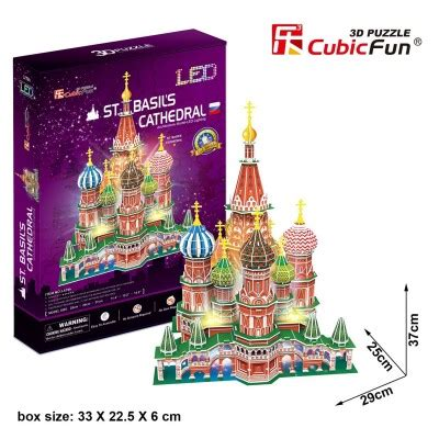 Promo Cubic Puzzle 3d Series Giraffe 3d jigsaw puzzle with led st basil s cathedral difficulty 6 8 cubic l519h 224 pieces