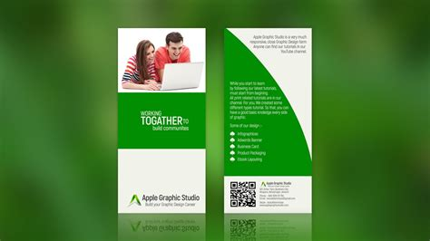 design leaflet in photoshop how to create two fold brochure photoshop tutorial youtube