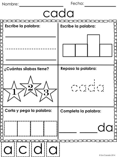 spanish sight word worksheets       letter words sight word worksheets sight