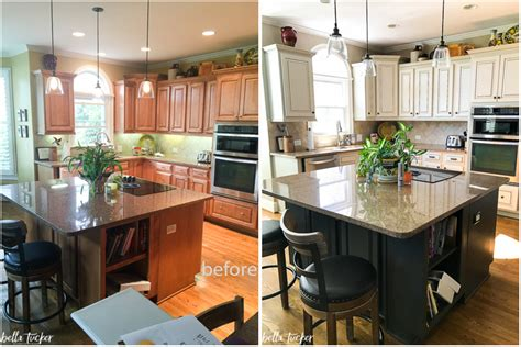 painting kitchen cabinets before and after pictures painted cabinets nashville tn before and after photos