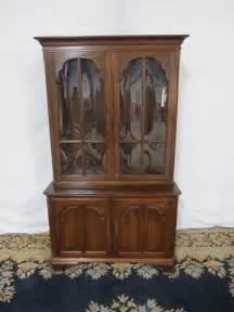 glass hutch cabinet ethan allen china cabinet hutch glass cherry ebay