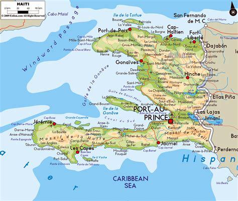 haiti map of cities haiti cities map