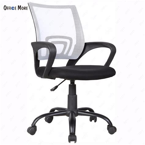 mid back office chair white ergonomic mid back executive swivel white mesh office