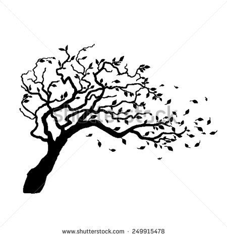 Chi Hair Dryer Blowing Cold Air wind blowing trees clipart 75