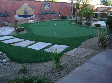 backyard putting green designs outdoor putting greens add to arizona landscape design