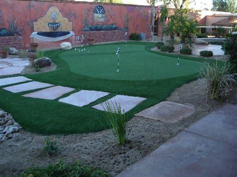 outdoor putting greens add  arizona landscape design