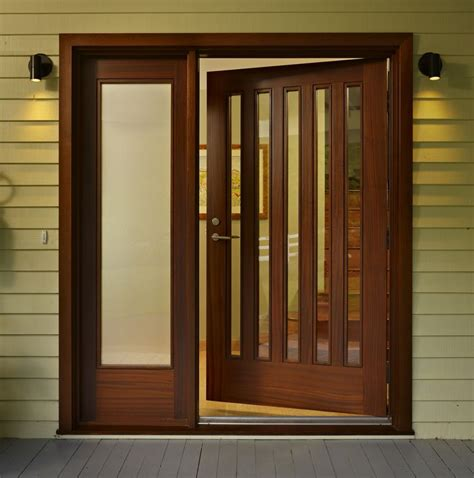 contemporary entry doors contemporary front door with glass panel door by finne
